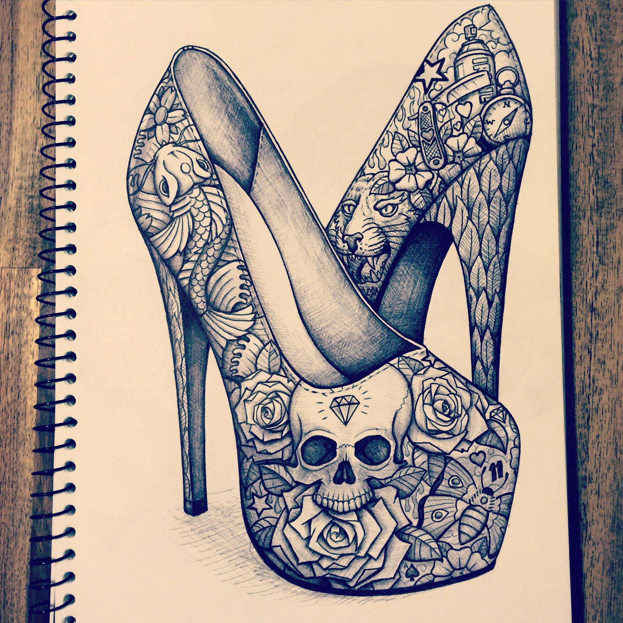 High heel sketch   High heel tattoos, Heels, Shoe sketches