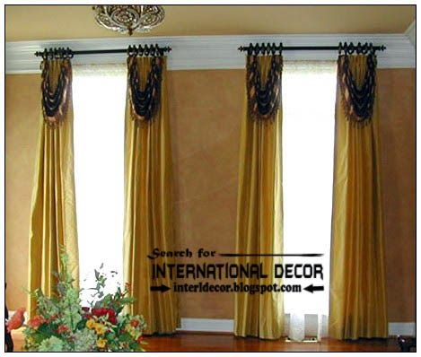 Stylish Country Curtains For Living Room In English Style | Curtain Designs
