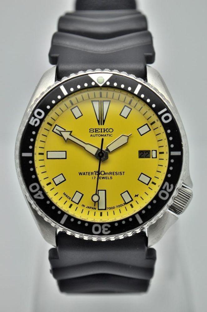 vintage custom seiko mens automatic divers watch 7002 7000 vintage custom seiko mens automatic divers watch 7002 7000 serviced runs strong