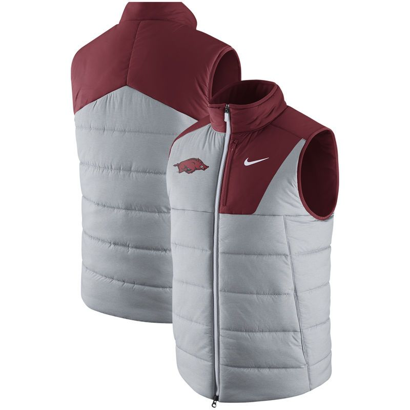 Arkansas Razorbacks Nike Sideline Player Vest - Heathered Gray