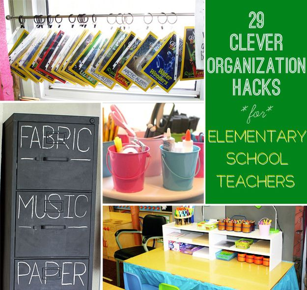 29 Clever Organization Hacks For Elementary School Teachers Elementary Schools Teaching Organization Elementary School Teacher