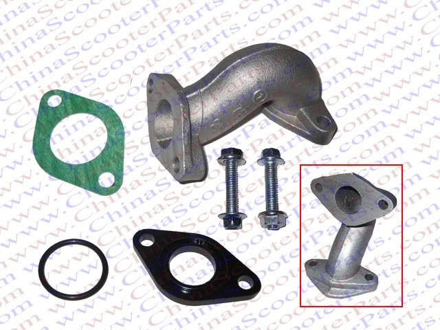 19mm Intake Manifold Kit With Gasket 50cc 70cc 90cc 110cc Kazuma