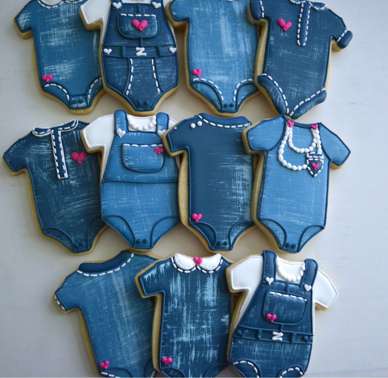 Denim baby shower cookies | Aujan's Sweets | Pinterest ...