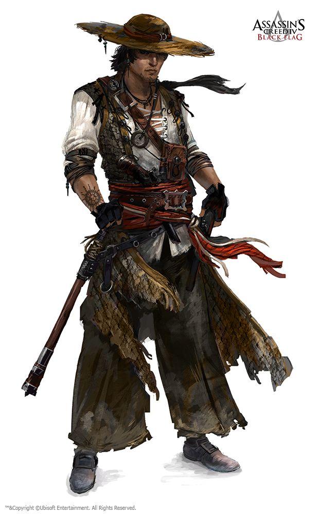 Concept Art Concept Art Characters Warrior Concept Art Assassins Creed Black Flag
