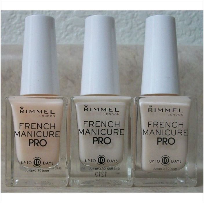 Rimmel London 3 Set French Manicure Pro Nail Polish Rose Ivory ...