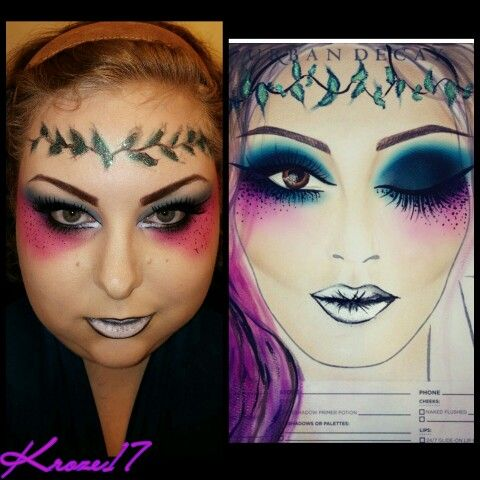 Double Take! Today I have another instalment of Double Take, where I recreate a look or in this case a Face chart From an artist.  The original design is by @maisyreisermakeup Be sure to check out @maisyreisermakeup Account and other great designs.  This look was so much fun and inspiring. The colors and over all design is just amazing. The perfect look to wear at a Festival!  Thank you @maisyreisermakeup For creating such a brilliant design and sharing. You inspire and motivate. Forever…