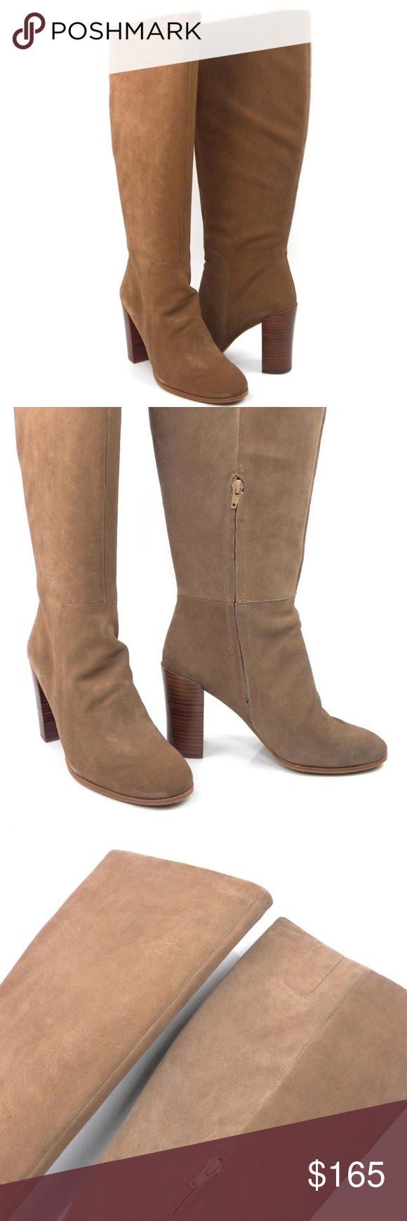 943dfc6ff62 Kenneth Cole Justine Boots Tall Wide Calf Kenneth Cole New York Justin Boots  Desert Tan Suede Knee High Women s sz 10 Style  Justine Suede upper  Man-made ...