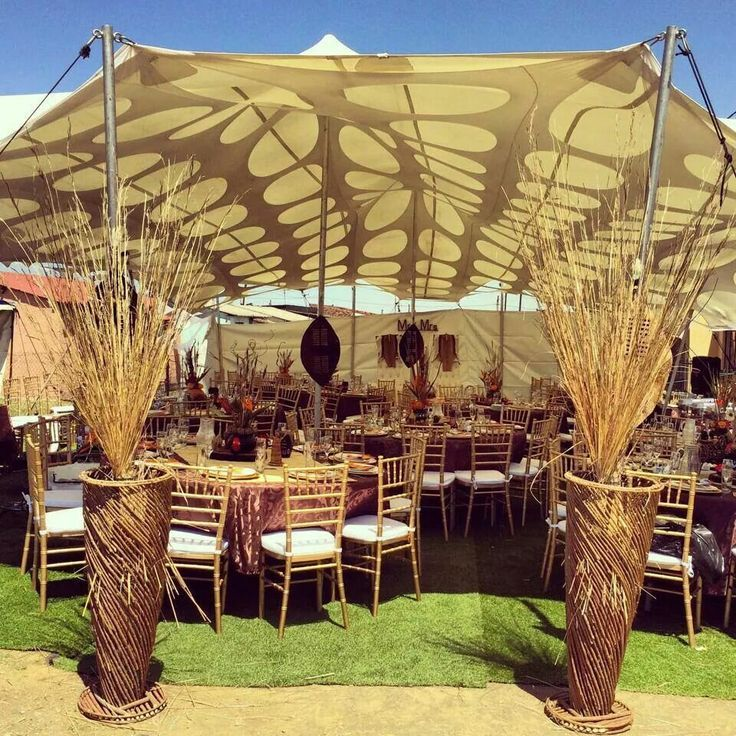Image result for creative african wedding entrance decor for Traditional wedding decor ideas
