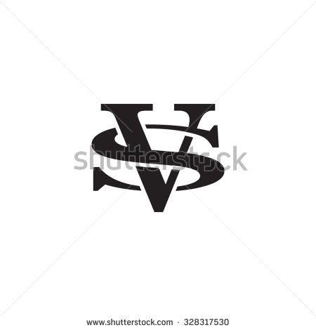 Letter S And V Monogram Logo Stock Vector Drawingz