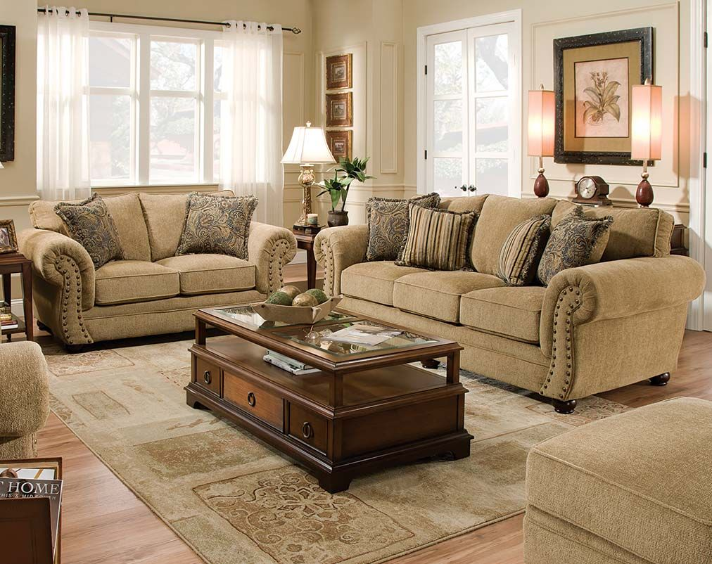 Best The Outback Antique Sofa And Loveseat Set Is A Neutral 400 x 300