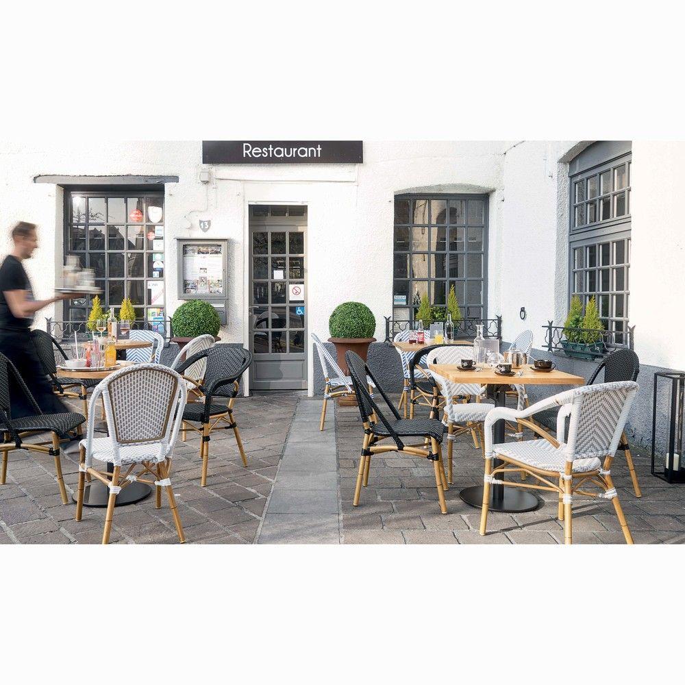 Chaise de jardin en résine tressée noire H88 in 2018 | Vintage ...