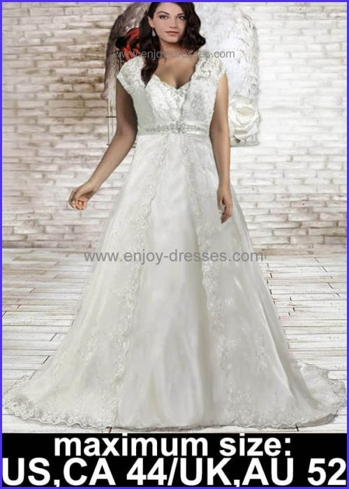 custom made lace plus size wedding dresses-maximum size:Canada,US 44 ...