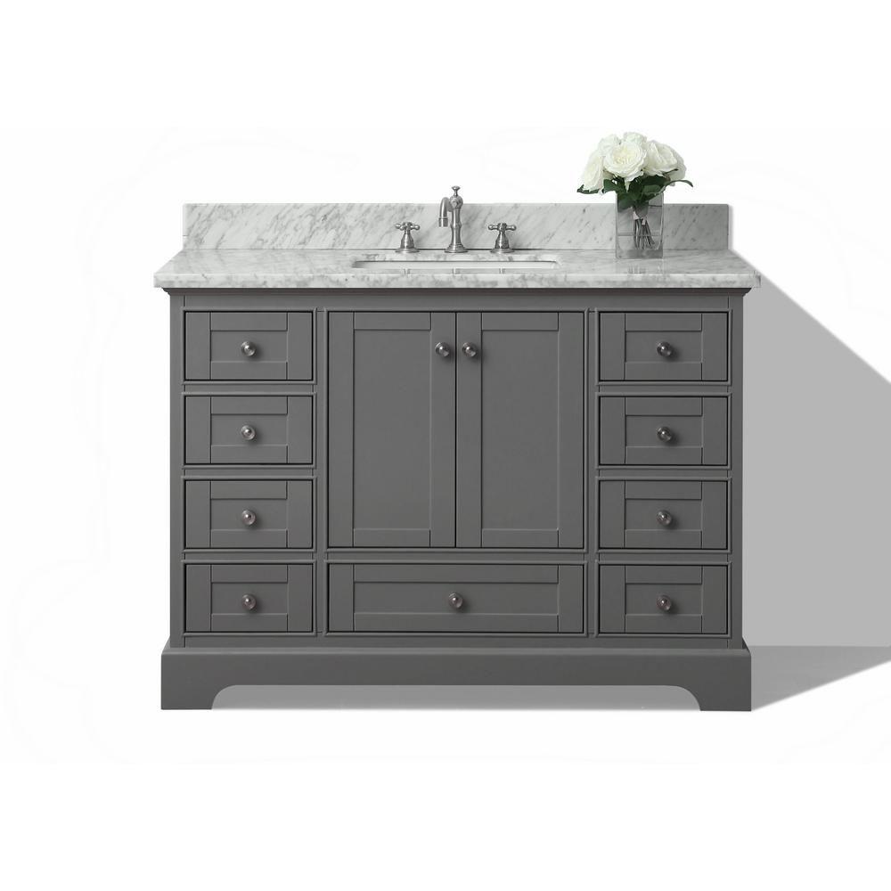 Ancerre Designs Audrey 48 In W X 22 In D Vanity In Sapphire Gray