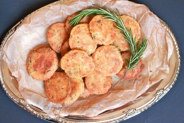 Rosemary and Parmesan Savory Cookies