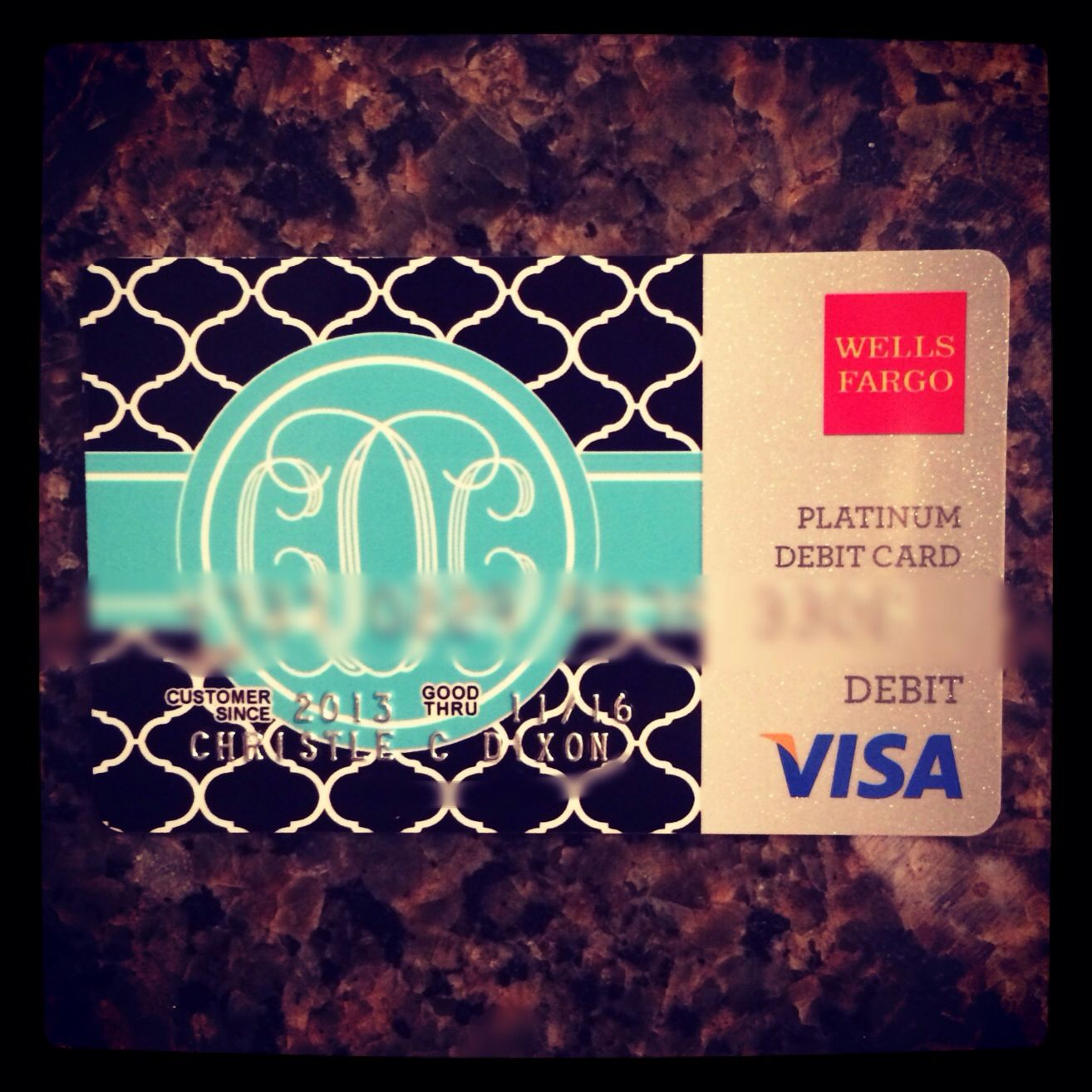 want to switch banks just for this! monogrammed debit card <3 ...