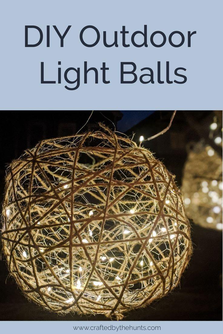 DIY Outdoor Light Balls DIY Christmas Decor christmas