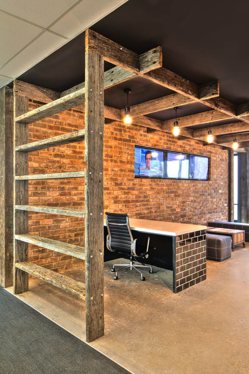 Traffik sydney office 2013 reclaimed timber polished concrete traffik sydney office 2013 reclaimed timber polished concrete brick wall cage dailygadgetfo Images