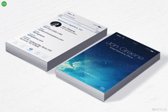 Iphone Business Cards 35x2 Inches Design And By Axylusdesigns