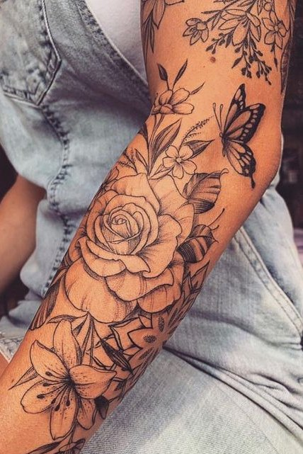 50+ Beautiful Flower Tattoos for Females [2020] - Tattoos for Girls