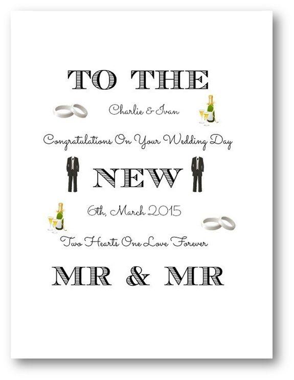 Unique Gay Wedding Card for Grooms or Brides