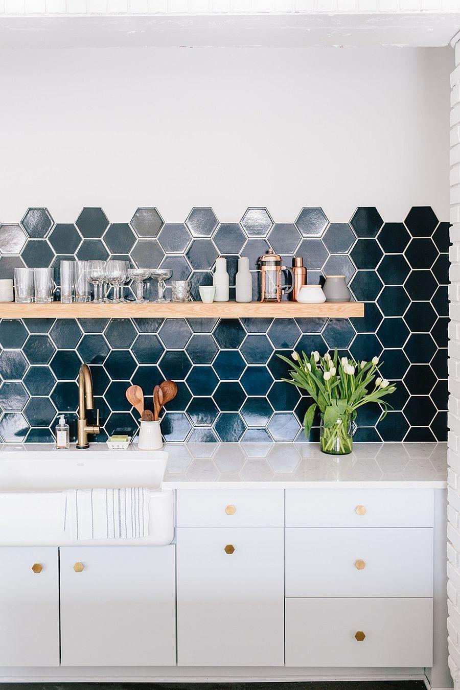 10 Hexagonal Tiles Ideas for Kitchen Backsplash, Floor and More