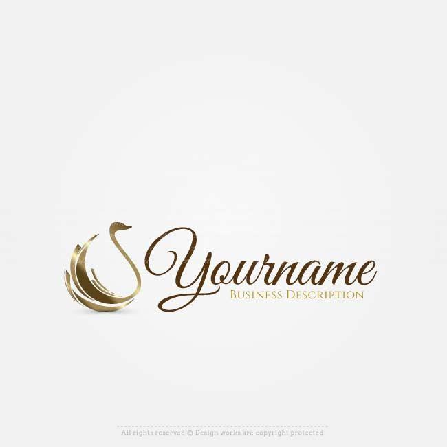 Free Logo Maker Online Golden Swan Logo Design Logo Maker