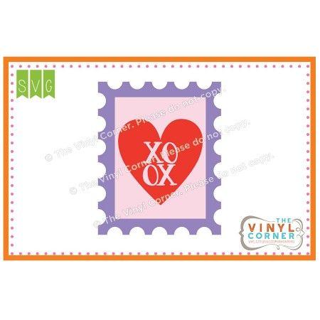 XOXO Stamp SVG Clipart Design