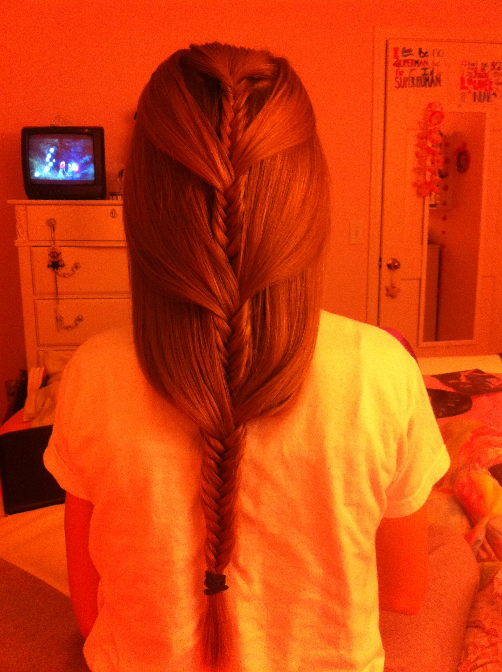 Draping fishtail braid!