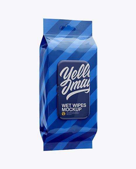 Download Wet Wipes Pack W Plastic Cap Mockup Half Side View