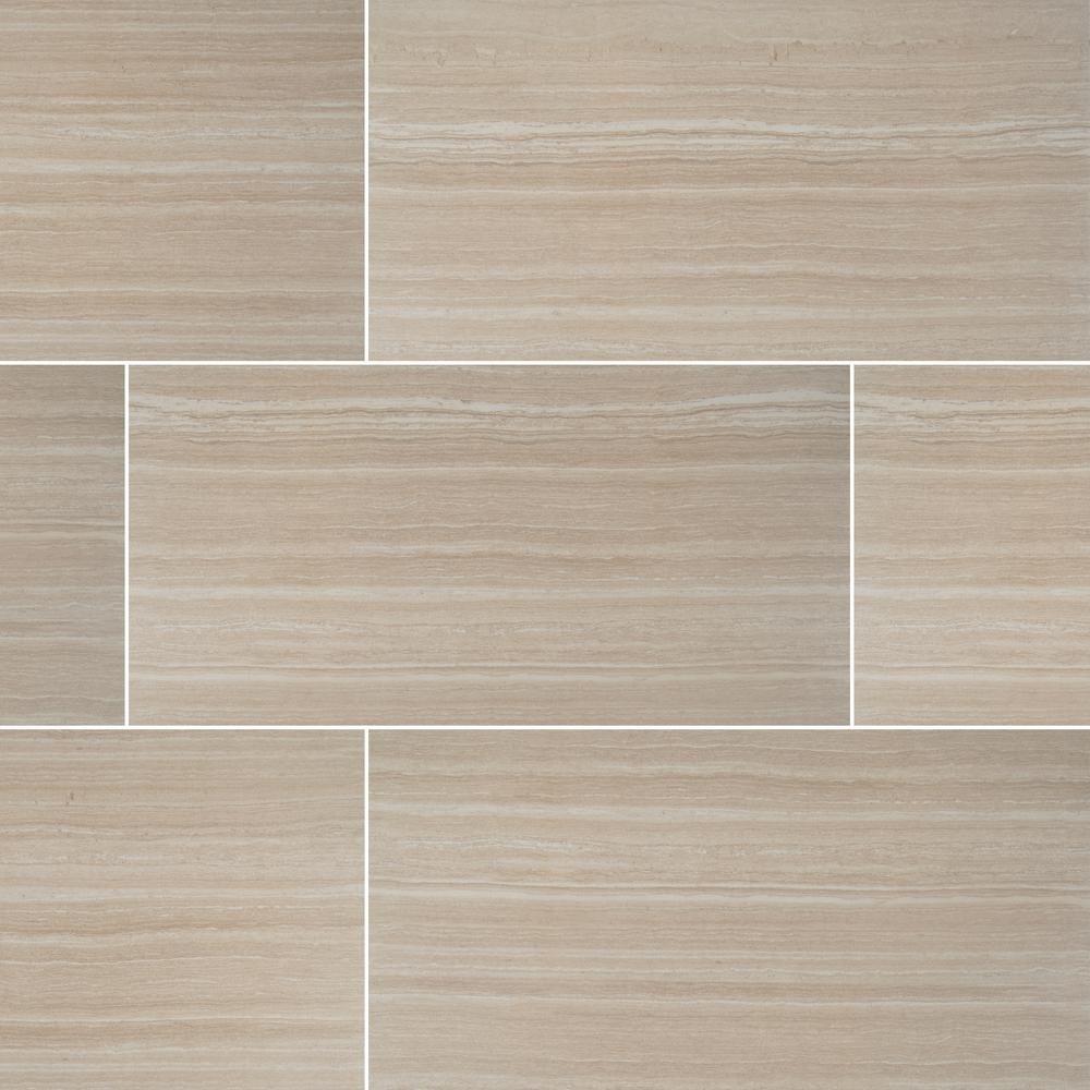 Atrium Kios Gris Glazed Porcelain Floor Tile: MSI Rimini Gris 12 In. X 24 In. Glazed Ceramic Floor And
