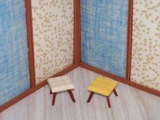 Marx Imagination House Cushion Foot Stool Ottoman Vtg Doll House Miniature Lot