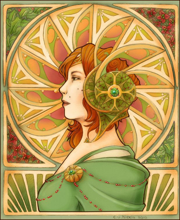 Jugendstil colored by Cinniuint on deviantART