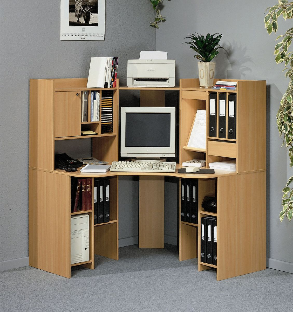 Furniture, Corner Desk Ikea For Home Office Cool Brown Color Material Good  Computer Small Bookshelves Some Books Cool Grey Color Design: The Unique  Designs ... Part 68