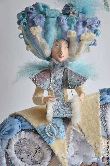Коллекционные куклы ручной работы: Зимняя забава. Handmade.  #ooak #artdoll