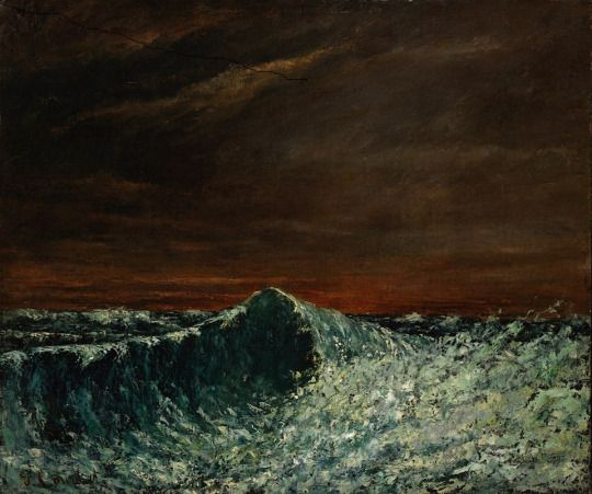 La vague, Gustave Courbet