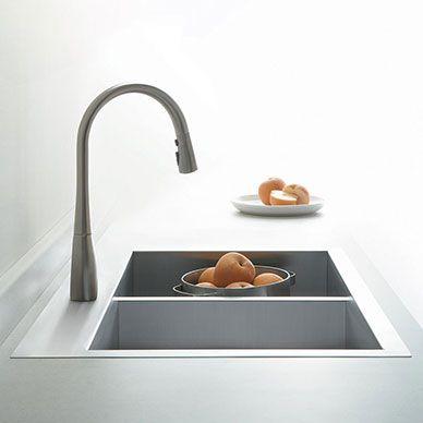 évier, évier de cuisine, cuisine, accessoires de cuisine Cuisine - mitigeur cuisine avec douchette extractible