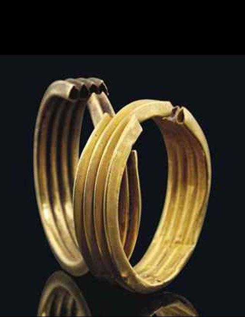 Pair Of Egyptian Gold Earrings