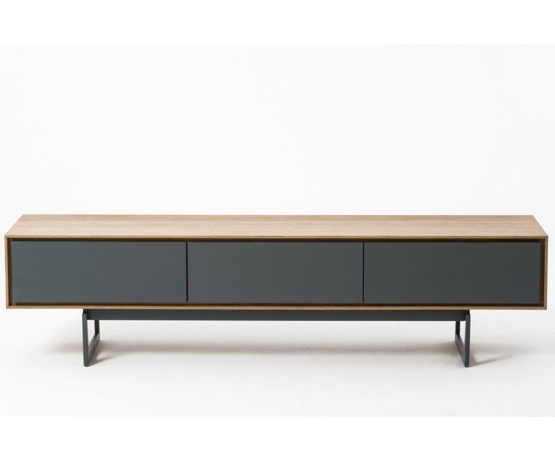 meuble tv design valeo chene et noir