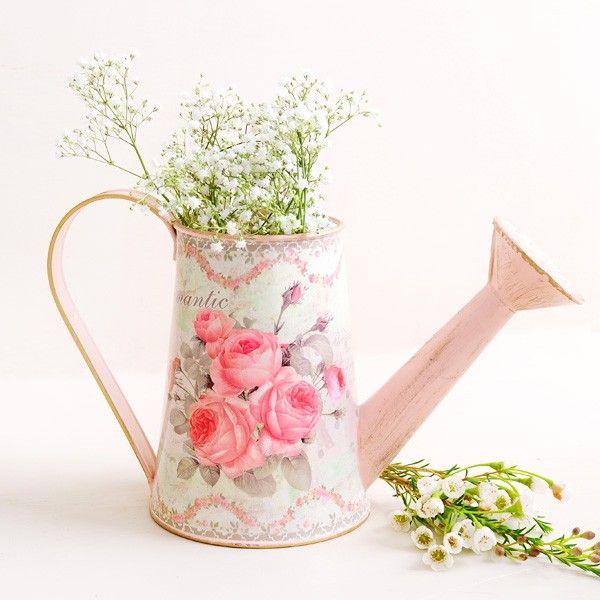 Comprar regadera vintage peque a rosas centros de mesa - Comprar decoracion vintage ...