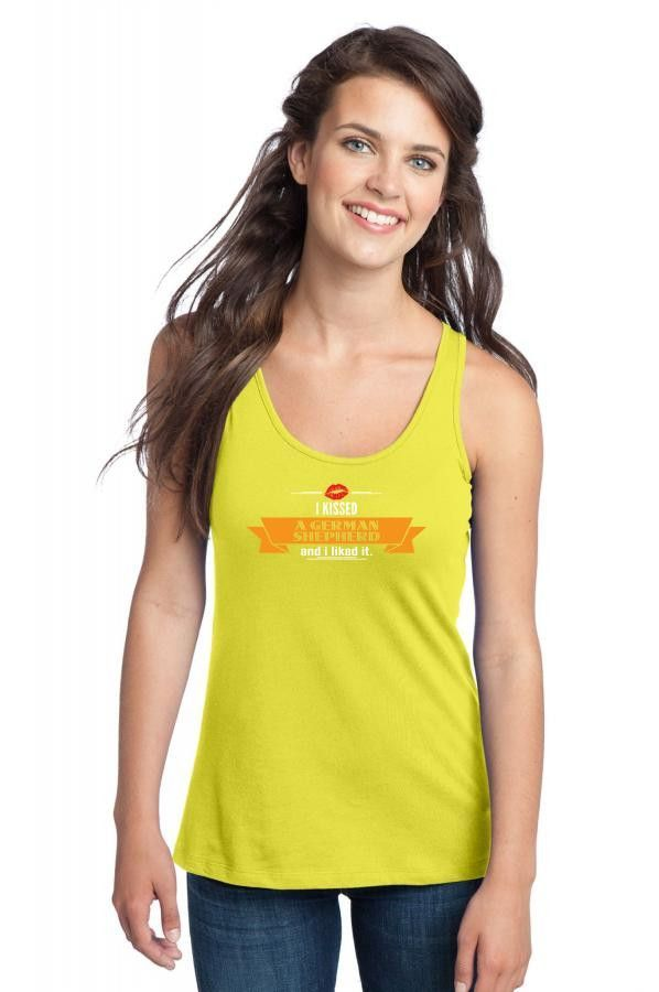 i kissed a german shepherd and i liked it 1 Racerback Tank