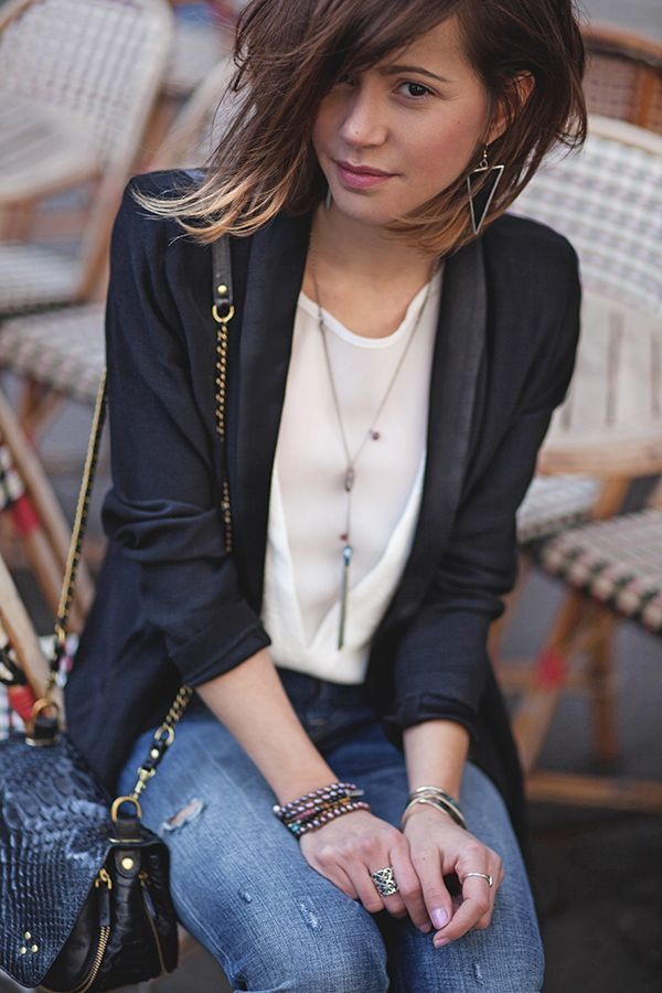 Chic Fitted Blazer Personal Style How To Layer Jewelry Choppy