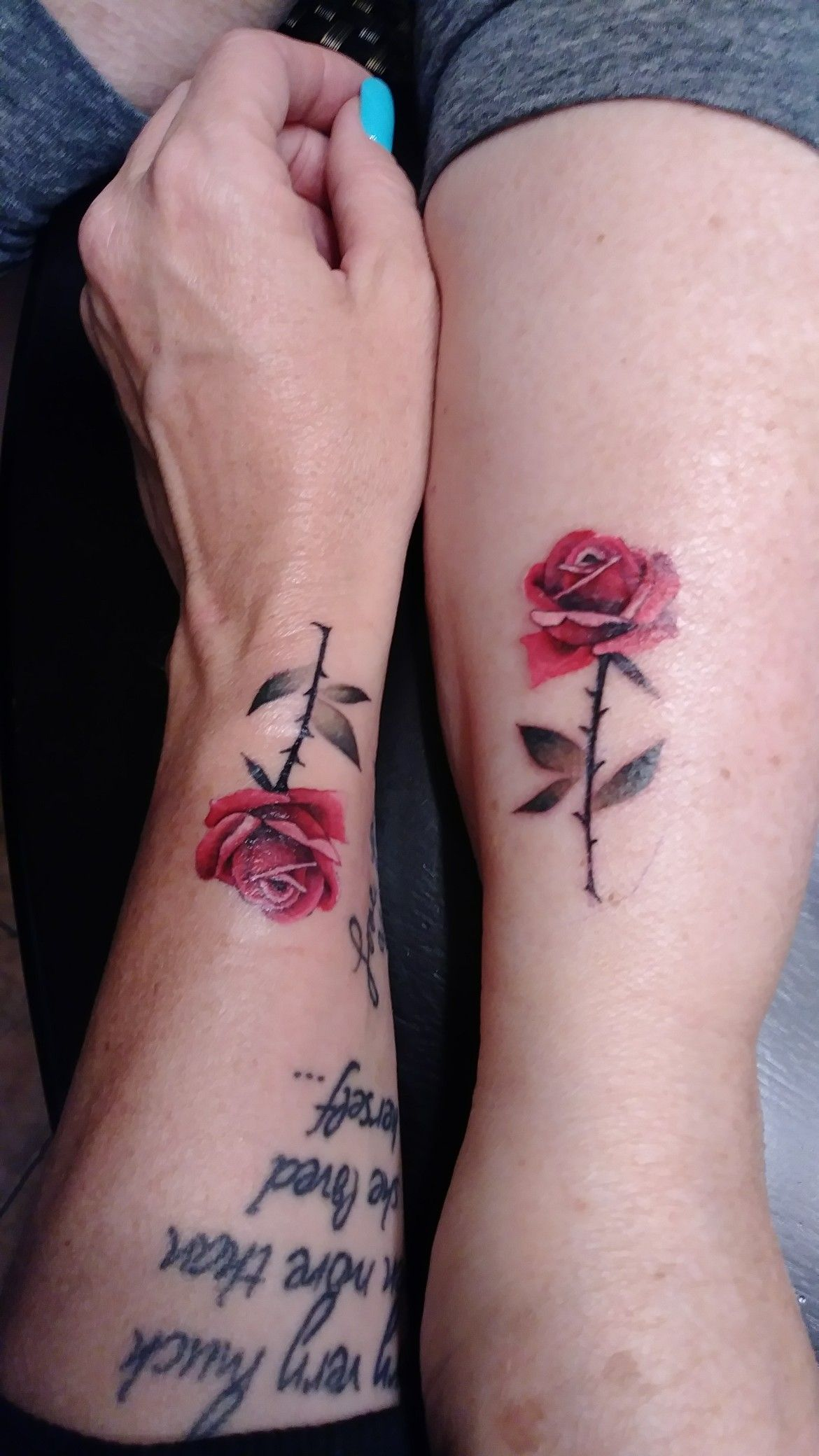 Small Tattoo Ideas For Mother And Daughter: Mother Daughter Tattoos, Matching Tattoos, Small Rose