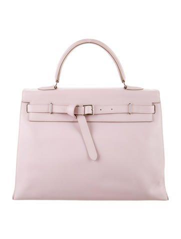 290ab5b271 Rose Dragee Swift leather Hermès Kelly Flat 35 with palladium hardware