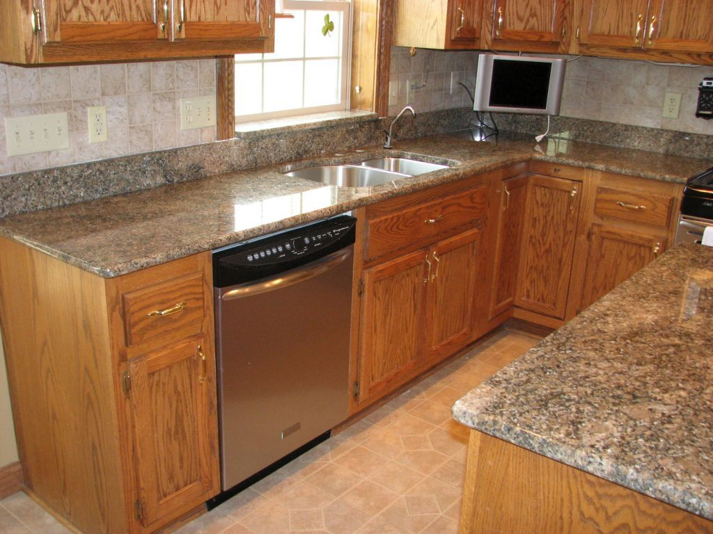 Countertops With Golden Oak Cabinets Google Search Kitchen Countertops Pinterest Countertops