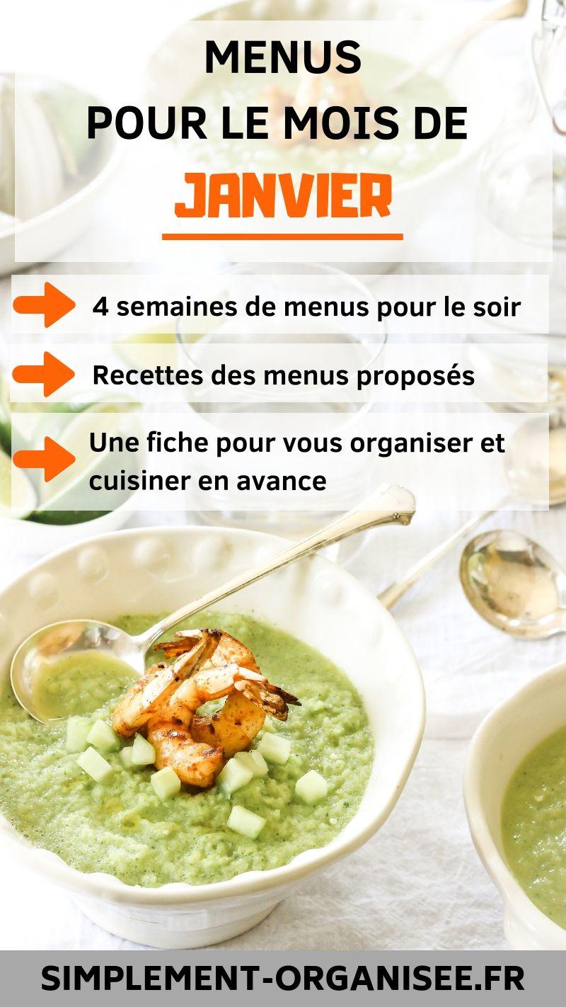 Idee Menu Simple Pour Le Soir.Menus Pour Le Mois De Janvier Healthy N Food Recette