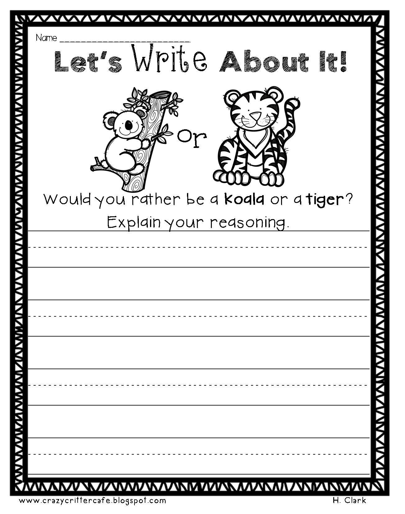 Animals Math Amp Literacy Printables Print Amp Go Morning Work Homework
