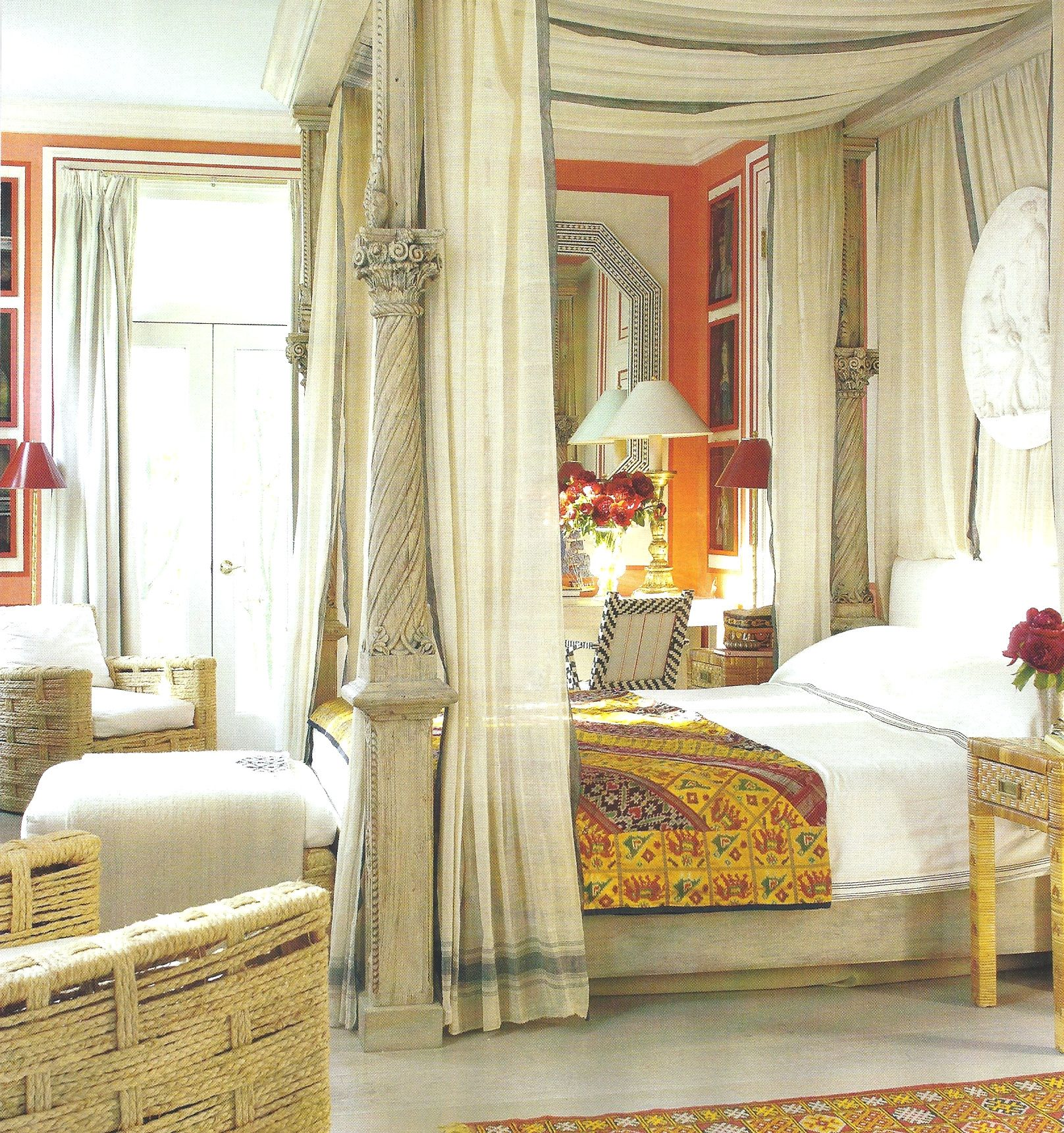 Bright And Bold Guest Bedroom: Living In Bold Color Loud And Vibrant. Contemporary And