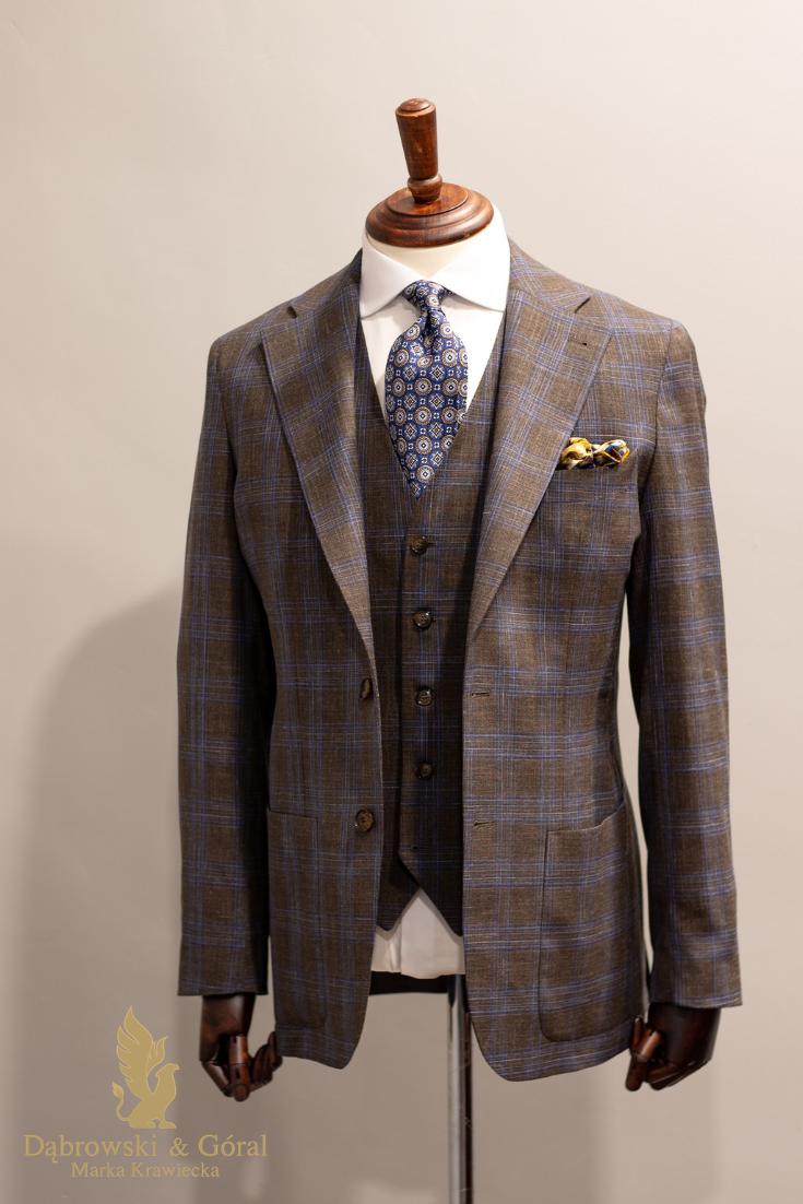 Brazowy Garnitur W Krate Suit Jacket Suits Fashion