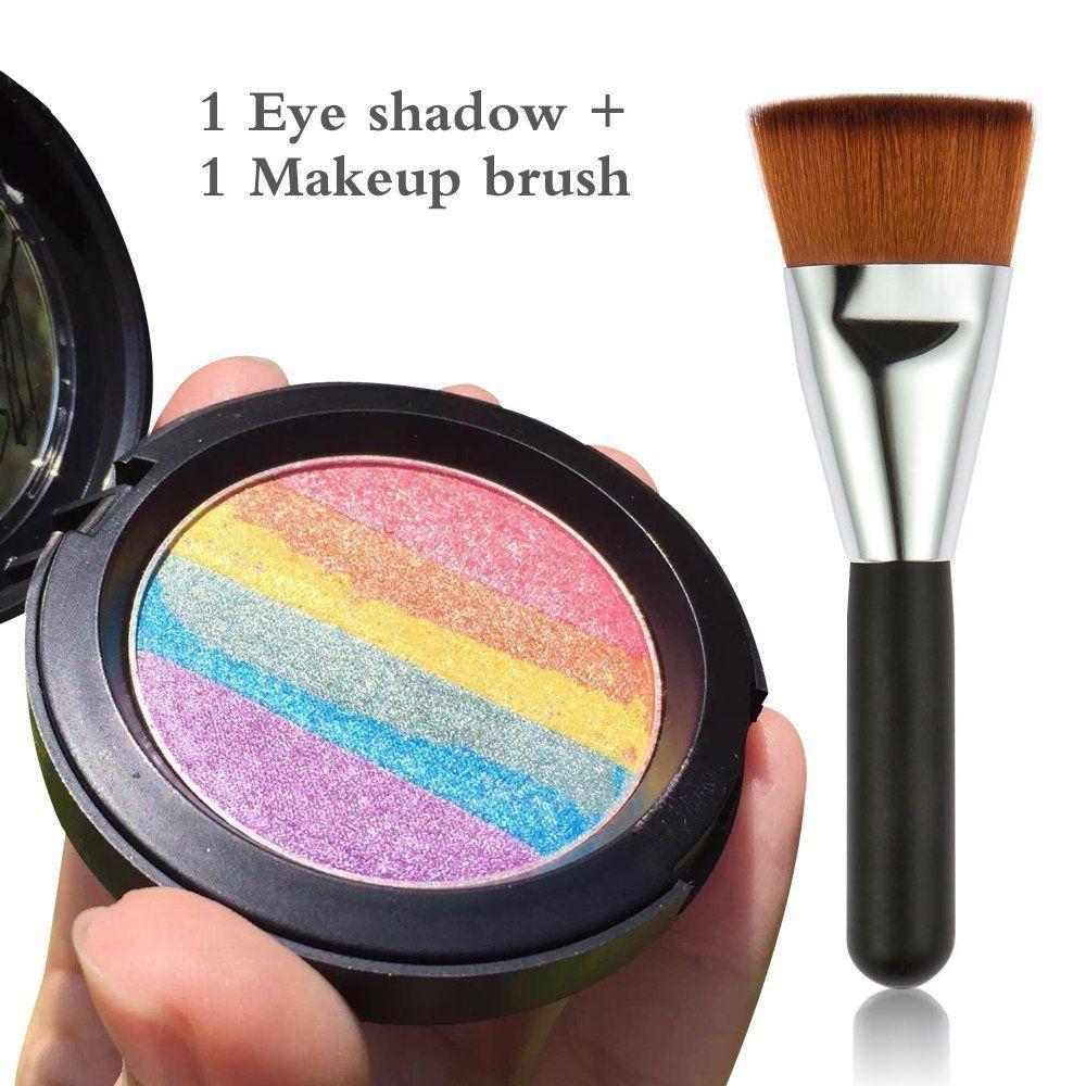 MLMSY Rainbow Cake Eyeshadow Makeup Baked Rainbow