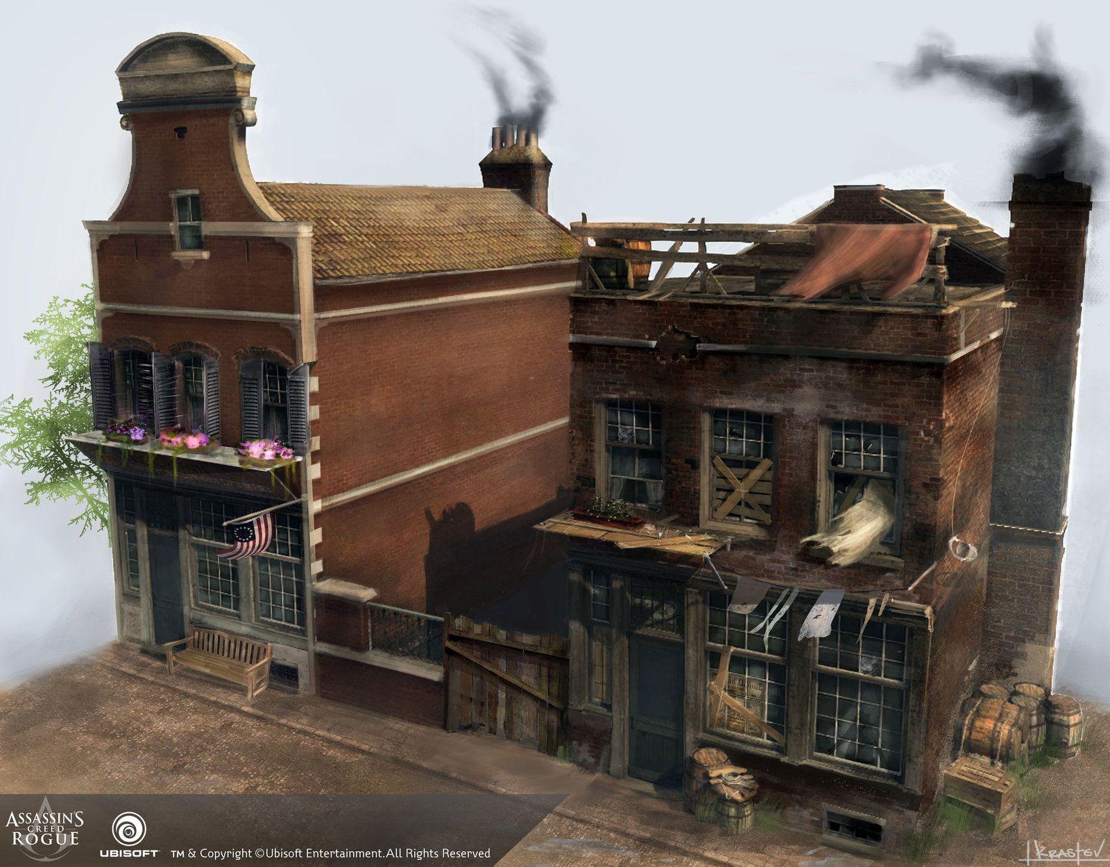Assassins CreedRogue houses Tsvetelin Krastev on ArtStation at